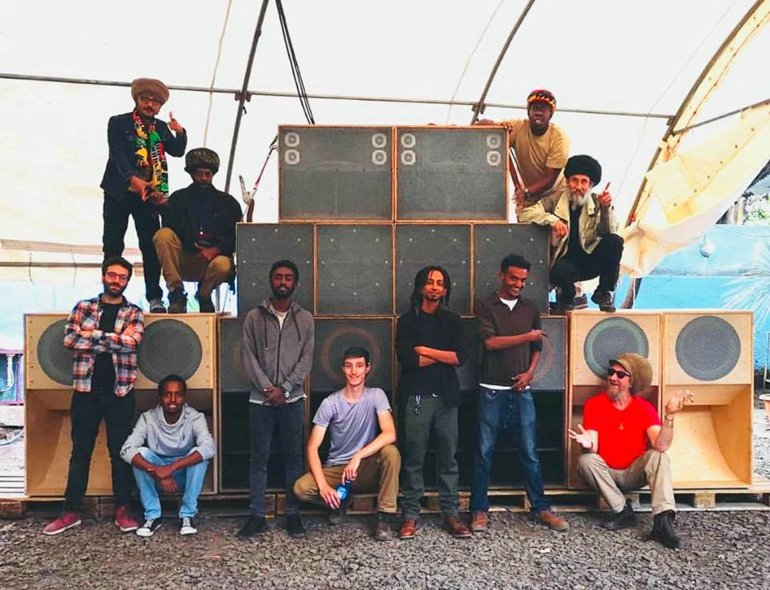 King Shiloh Sound System Ethiopia with crew